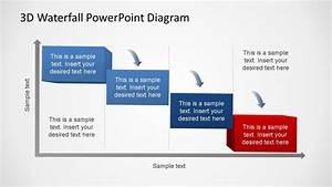 3d Generic Waterfall Powerpoint Diagram