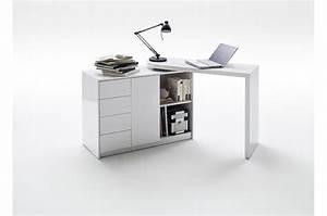 Bureau Moderne Blanc Avec Rangement Pour Chambre Enfant Ado