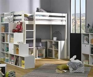 Hochbett Mit Babybett : kinder hochbett tanguy aus massivholz mit matratze ~ Orissabook.com Haus und Dekorationen