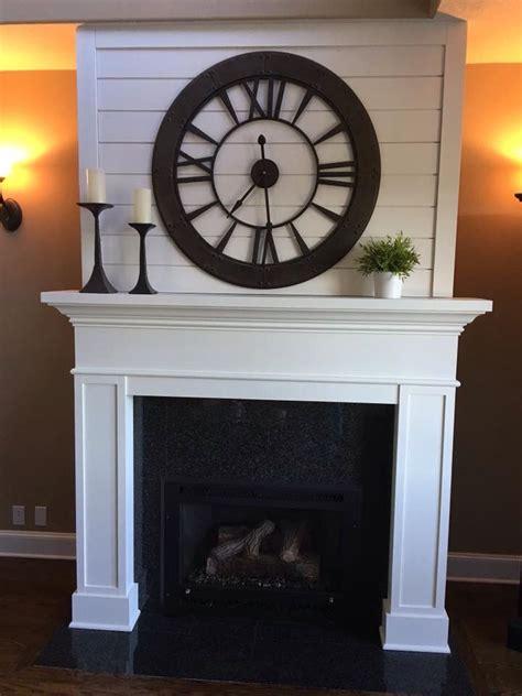 joanna gaines inspired fireplace mantel pine shiplap   farmhouse fireplace mantels