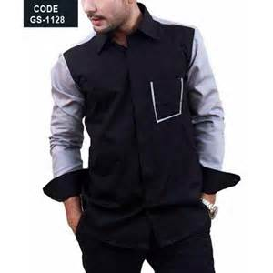 designer shirts black designer shirt with blue sleeves contrast pakistan special design mens shirt in pakistan