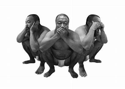 Wise Three Monkeys Evil Silhouette Ai Clip