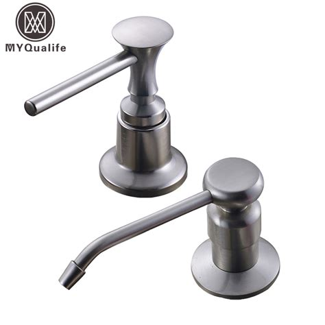 kitchen sink soap dispenser brushed nickel kitchen sink soap dispenser stainless steel 8539