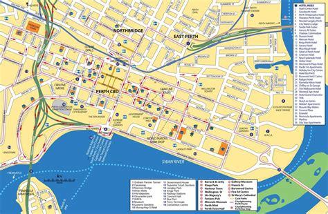perth street map street map  perth australia