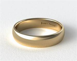 6mm low dome wedding ring 14k yellow gold james allen With james allen mens wedding rings