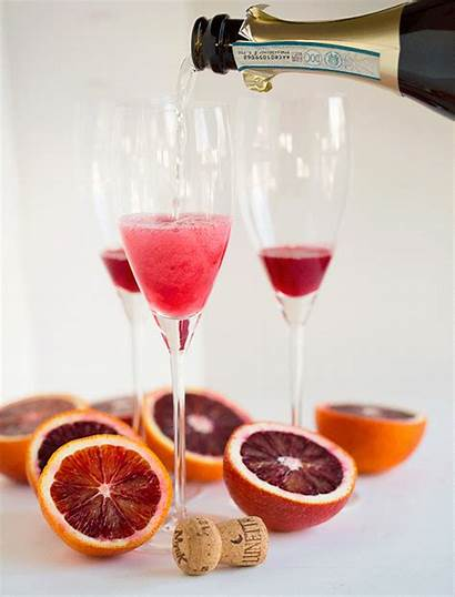 Orange Blood Bellinis Drink Cocktail Tablefortwoblog Drinks