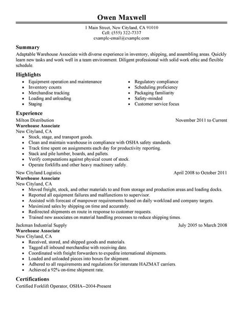 Warehouse Resume Template by Paraprofessional Resume Template For Microsoft Word