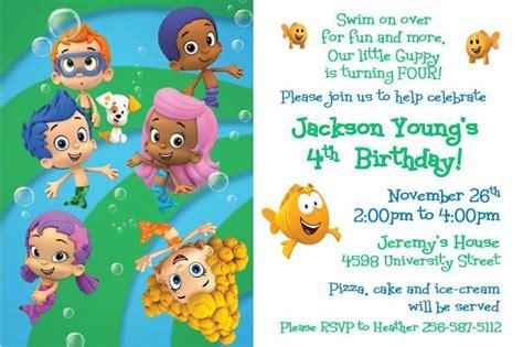 bubble guppies birthday invitations ideas bagvania