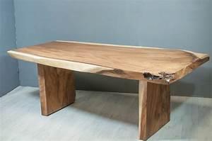 Table Plateau Bois : meuble s jour table repas en bois de suar massif ~ Teatrodelosmanantiales.com Idées de Décoration