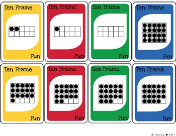 This simple card game helps kids quickly get better at knowing the pairs of. Ten Frame Fun-Card Game {FREEBIE} by Majorly in Love with ...