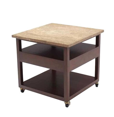 marble top end tables with drawers pair of marble top single drawer end table by harvey probber for sale at 1stdibs