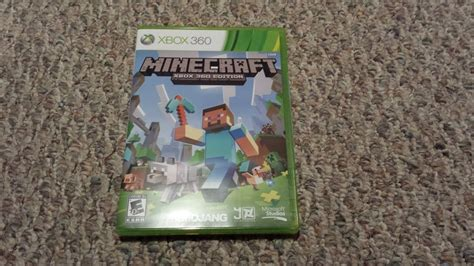Minecraft Xbox 360 Edition Unboxing Hd Youtube