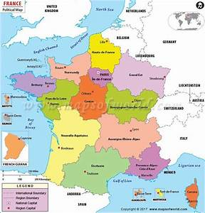 Political Map Of France