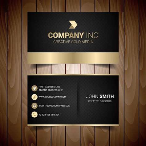 black  gold elegant business card