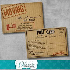 moving announcement change of address by oohlalaposhdesigns With change of address announcements postcards