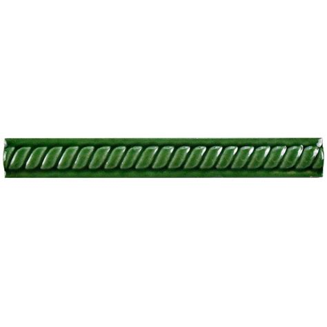 merola tile trenza verde moldura 1 in x 8 in ceramic