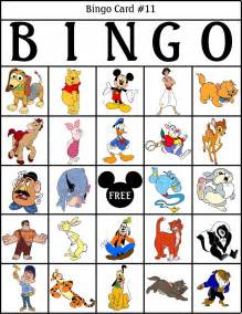 Free Printable Disney Bingo Cards
