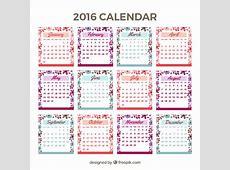 Bonito calendario 2016 con detalles florales Descargar