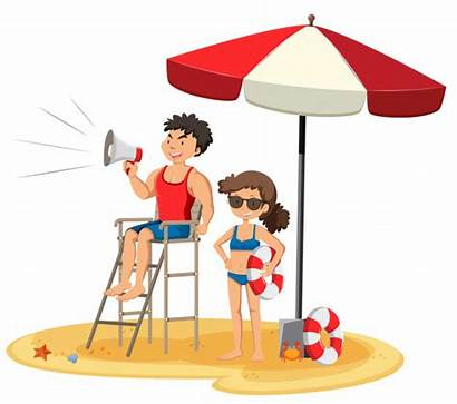 Salvavidas Lifeguard Playa Fondo Premium Blanco Sobre