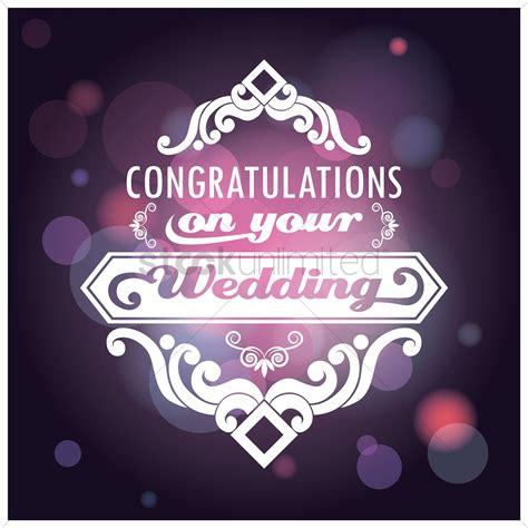 congratulations   wedding card vector image