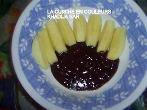 recette de pommes sauce chocolat crunch petit dessert pour