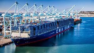 Largest Ship In The World Docks At Port Of Los Angeles ...