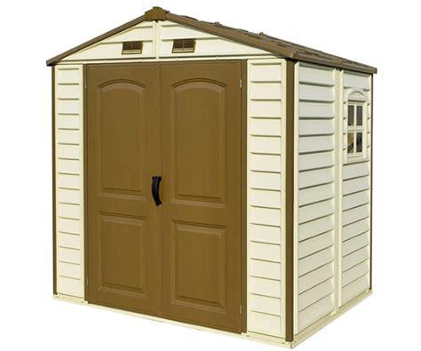 duramax storage shed duramax storeall 8x5 5 vinyl shed w foundation kit 30115