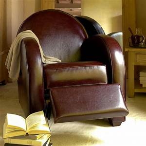 Fauteuil club steed marron interior39s for Fauteuil club relax
