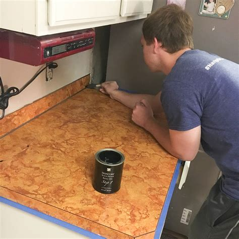 painting a kitchen countertop diy countertop makeover