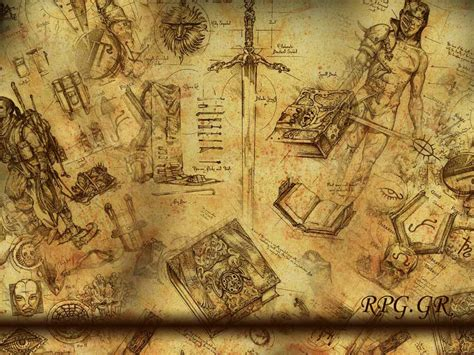 wallpapers fantasy wallpaper rpg ancient paper
