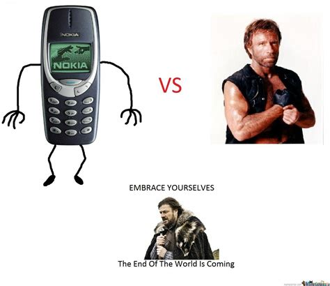 Nokia Phone Memes - nokia 3310 vs chuck norris by wilszero meme center