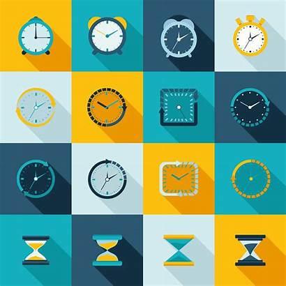 Clock Icon Flat Alarm Vector Icons Sand