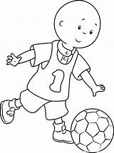 Coloring Football Caillou Playing Pages Cartoon Printable Sheets Pdf Cartoons Coloringpages101 Sports Familyfriendlywork sketch template