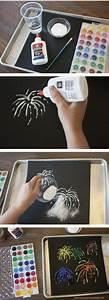 Farbe Fixieren Mit Salz : who knew painting with salt would turn out so cool ~ Watch28wear.com Haus und Dekorationen