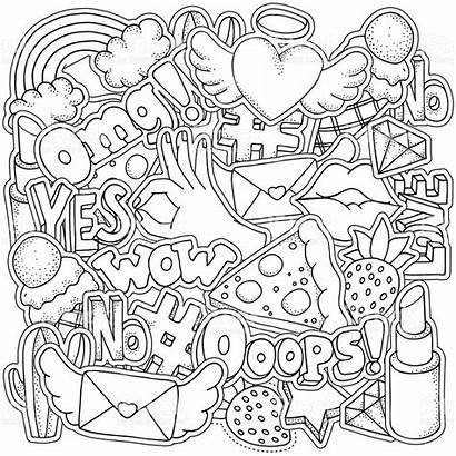 Coloring Adult Pages Badges Patch 1980 Vector