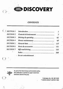 Land Rover Discovery Owners Manual Pdf  4 37 Mb