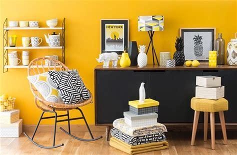 associer les couleurs dans une cuisine déco salon jaune citron
