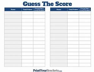 Printable Weekly Football Pool Sheet Printable Guess The Score Super Bowl Party Game