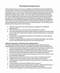 6 student contract samples templates in pdf for Student contracts templates