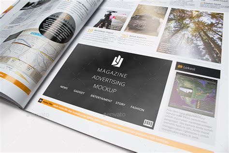 customizable magazine ad psd mockup psd