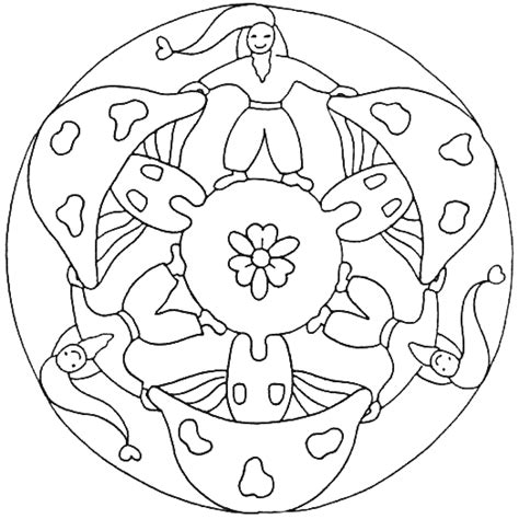 Kleurplaat Mandala Kleuters by Kabouters Mandala Kleurplaat Herfst Mandalas