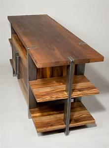 Metal And Woods : reclaimed wood entertainment center google search sun ~ Melissatoandfro.com Idées de Décoration