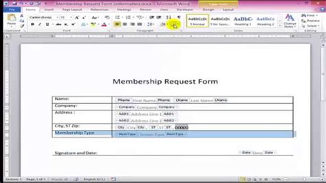 create fillable forms  word youtube