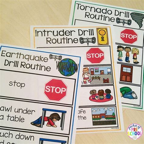 Safety Drills Books & Routine Posters (Earthquake, Tornado ...