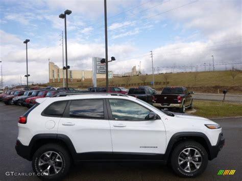 jeep trailhawk 2016 white bright white 2014 jeep cherokee trailhawk 4x4 exterior