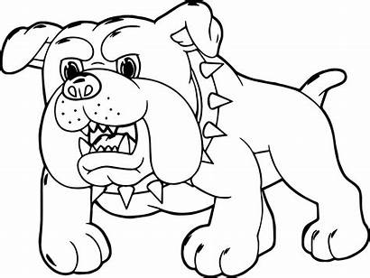 Coloring Dog Pages Bernard Cartoon Drawing Dogs