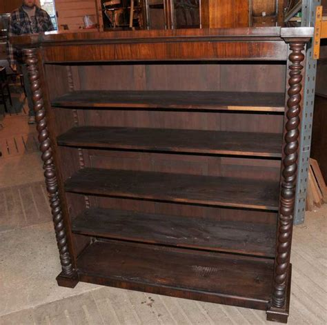 victorian mahogany bookcase barley twist rustic furniture