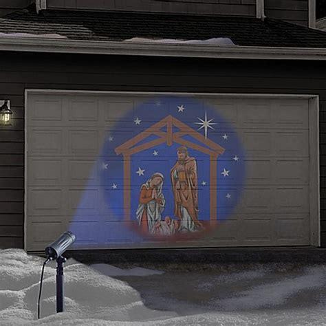 winter wonderland holiday nativity set led projector bed
