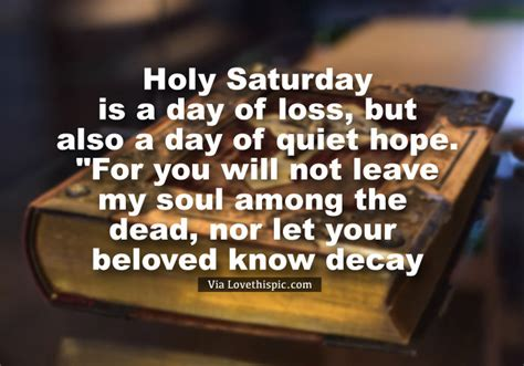 quiet day  hope holy saturday quote pictures