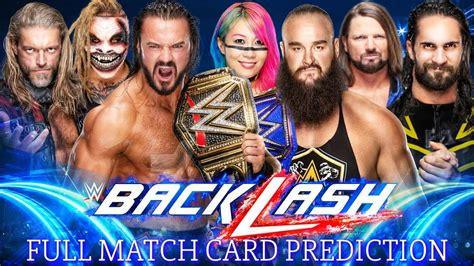 Maybe you would like to learn more about one of these? Wwe Backlash Match Card Prediction   Wwe Backlash 2020 ...
